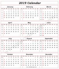 Week Number Calendar Calendar 2019 With Week Numbers Calendar With Week Numbers