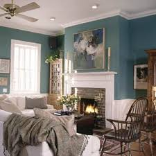 In boldly colored rooms, handsome architectural features are enhanced with  white.