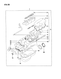 engine gasket sets for dodge raider mopar parts giant 1989 dodge raider engine gasket sets diagram 000017bp