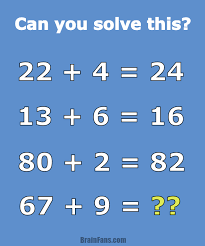 brain teaser number and math puzzle math problem for geniuses can you solve