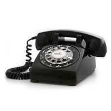 bluetooth portable rotary phone black