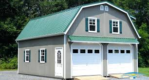 Built OnSite Custom Amish Garages In Oneonta NY  Amish Barn CompanyTwo Story Garage Apartment