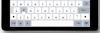 all of the keys now display both letters and numbers symbols and a downward swipe or a flick can be used to type a symbol or a number instead of the