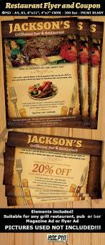 17 best images about diseño de menus restaurant restaurant bar magazine ad or flyer template and coupon is a modern and attractive psd