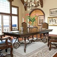 wrought iron dining table base solid reclaimed distressed wood top wrought iron metal base dining table
