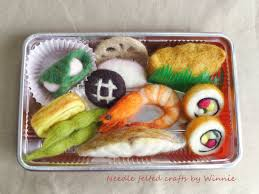 Bento Box Decorations Japanese Bento box lunch handmade needle felted wool food OOAK by 82