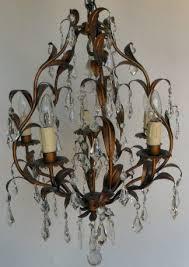 6 arm vintage italian chandelier