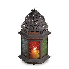 Moroccan Porch Light Candle Lantern Moroccan Rainbow Design Patio Porch Light