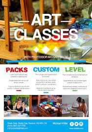 art classes promotional a% flyer premadevideos com a art classes promotional a% flyer premadevideos com