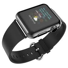 hoco pago genuine leather watchband for apple watch 42mm black