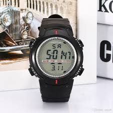 new arrival best mens sports water resistant black band watch led see larger image