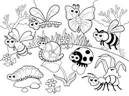 Small Picture Simple bug coloring sheet spring bugs coloring pages animal