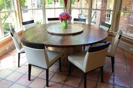 bright and modern round dining table with lazy susan home furniture