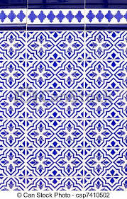 Pattern In Spanish Extraordinary Andalusian style spanish blue ceramic tiles pattern