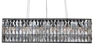 the monroe clear crystal rectangular chandeliier black finish