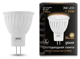 <b>Лампа</b> светодиодная <b>gauss</b> 132517103, <b>GU4</b>, MR11, 3Вт ...
