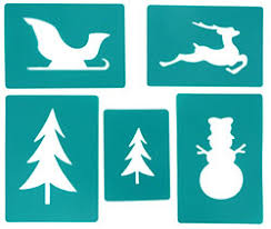 christmas card stencils hopefish christmas stencil kit to create murals cards and decoration