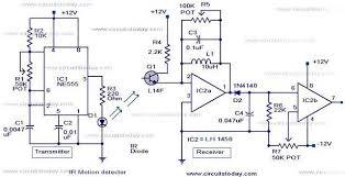motion sensor circuit diagram alarm images detector circuit ir motion sensor circuit motion detector alarm