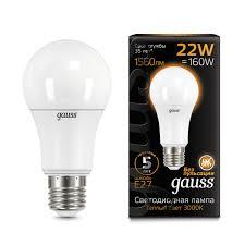 Лампочка 102502122 <b>Лампа Gauss LED A70</b> 22W E27 3000K 1/10 ...