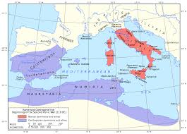 This Map Shows The Two Sides The Roman Republic And The