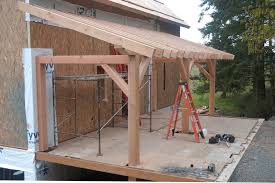 open gable porch roof framing
