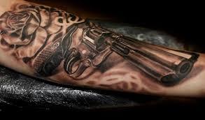 тату пистолет 100 фото эскизы значение для мужчин и девушек