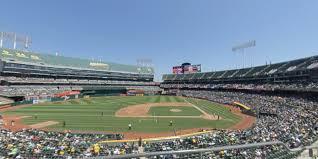 O Co Coliseum Seating Chart Baseball Ringcentral Coliseum Section 221 Oakland Athletics