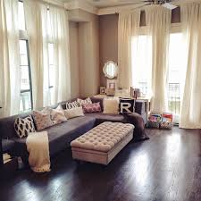 marvelous design of the living room ds with brown wooden floor ideas added with l shape