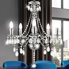 Led 15 Watt Lüster Beleuchtung Kronleuchter Pendel Lampe Acryl Kristalle Dekor Klar