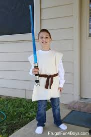 star wars lightsaber and no sew jedi costume gift idea