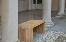Original design bench wooden cardboard double sided MORE