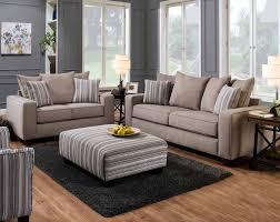 Dunbar Taupe Sofa & Loveseat