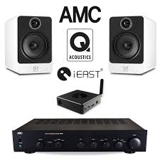 office speaker system. Office Audio Pack With AMC Stereo Amp \u0026 Q Acoustics Speakers IEast Wireless Streamer BUN900515 Speaker System R