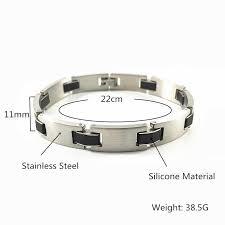 Black <b>Silicone Bracelet Men Stainless</b> Steel <b>Mens Bracelets</b> For <b>Men</b> ...