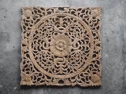 carved wooden lotus wall hanging wood carving wall art panel perfect wood carved wall decor