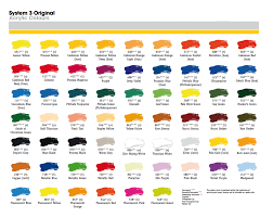 Fw Inks Colour Chart Colour Charts Crafty Arts