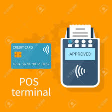 Contactless Card Design Pos Terminal Contactless Payment Method Vector Illustration