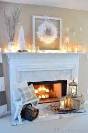 Cozy owl and candle mantel