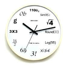 math nerd wall clock math equation wall clock math genius wall clock 1piece pop quiz math