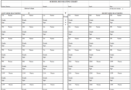 School Bus Seating Chart Template Seating Chart