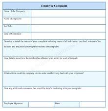 Hr Complaint Forms Free Sample Example Format Within Employee Form 1 ...