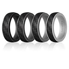 Egnaro <b>Silicone</b> Wedding Ring for Men, Detachable <b>Carbon Fiber</b> ...