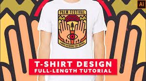 Festival T Shirt Design How To Make A Music Festival T Shirt Design In Illustrator Full Length Tutorial