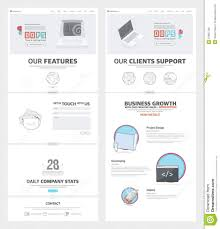 Company Portfolio Template Two Page Website Design Template With Concept Icons And Avatars For 9