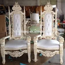 luxury carved wooden king quince throne chair king and queen chairs