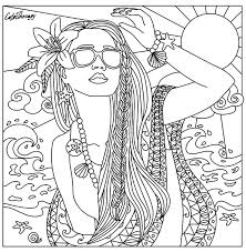 Small Picture Beach babe coloring page Beautiful Women Coloring Pages for