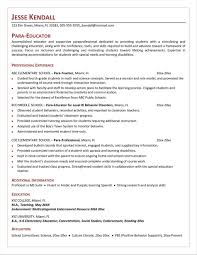 paraprofessional cover letters cover letter sample attractive sample resume for paraprofessional
