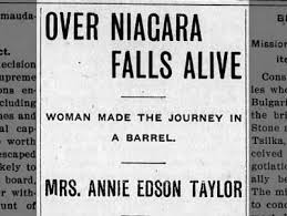 Image result for 1901, Annie Edson Taylor(Photo)