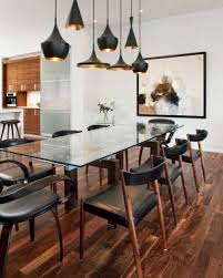 image of farmhouse dining room chandeliers
