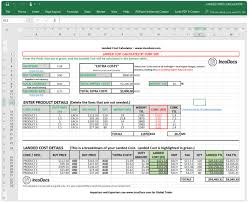 Landed Cost Calculator Excel Template To Use For Import